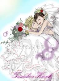 Tamaki and Haruhi Wedding 1