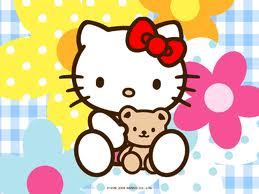 Hello Kitty wallpaper titled Teddy Bear Hello Kitty