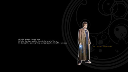 Tenth Doctor 壁纸 with Tim Latimer quote <3