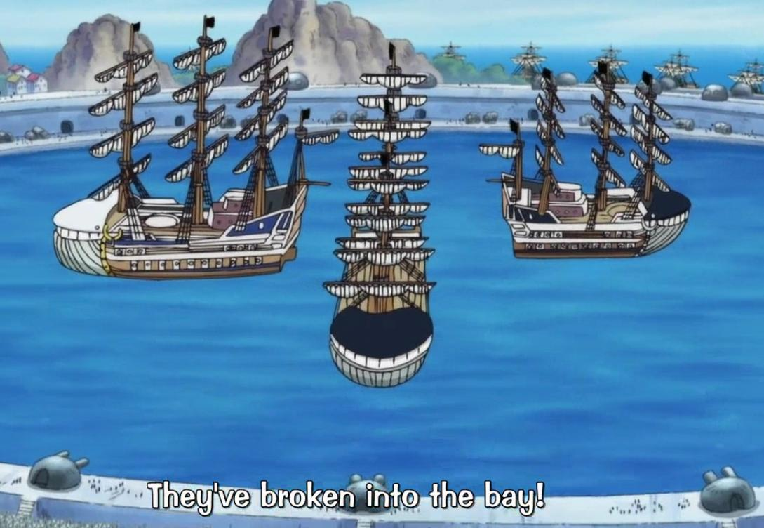 The 4 ships of the Whitebeard Crew