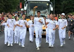 The Wanted Olympic Torch Run