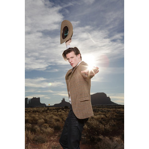 The eleventh Doctor trying to look cool, but somehow failing. :)