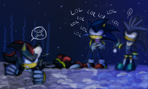 Sonic, Shadow, and Silver wallpaper possibly with anime entitled Triple S