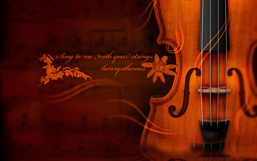 Music wallpaper possibly with a violist entitled Violin