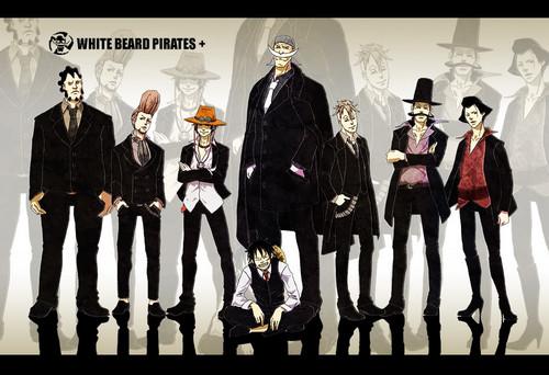 Edward Whitebeard Newgate achtergrond titled Whitebeard pirates