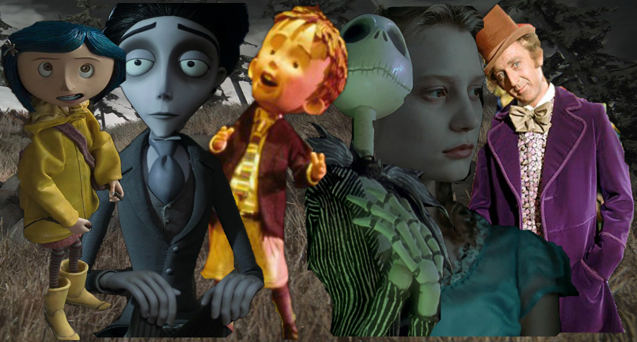 a bunch of characters that Tim burton brought to life