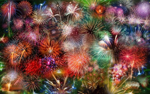 beautiful fireworks
