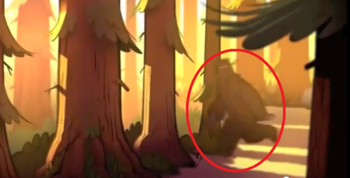 Gravity Falls achtergrond called big foot