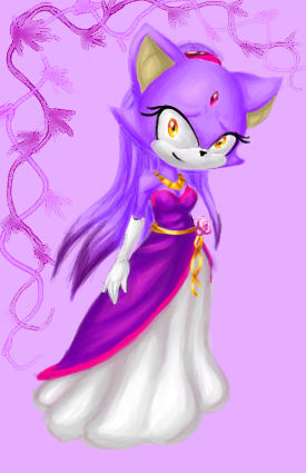 Blaze the Cat wallpaper probably with a bouquet and a rose titled blaze the cat