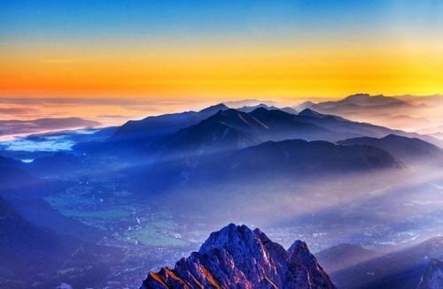 blue scenery