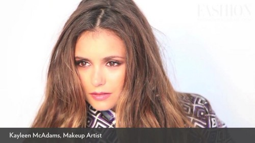 cover shoot with Nina Dobrev