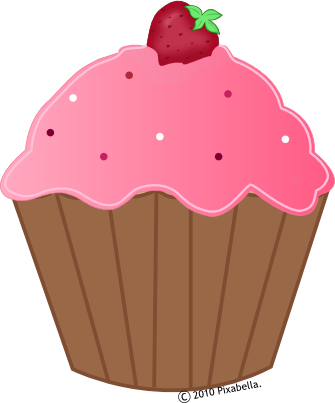 a cartoon cupcake