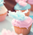 cupcakes with cotton candy