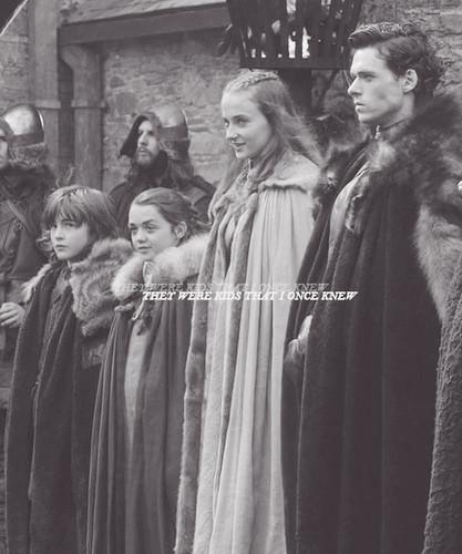Bran, Arya, Sansa & Robb