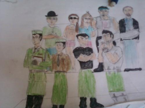 humanized penguins, cc, Kristen, me, Tom Mcgrath and the con chuột King (I'm the one in the người chơi ném banh, người chơi bowler, quả dưa hat)