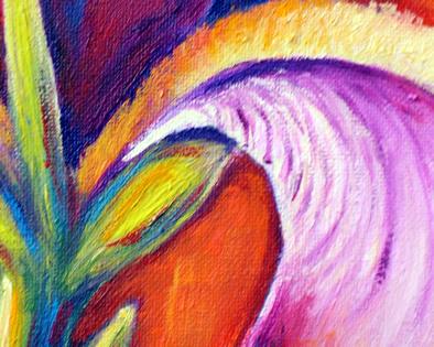 close up फूल painting