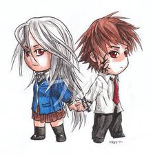 moka and tsukune