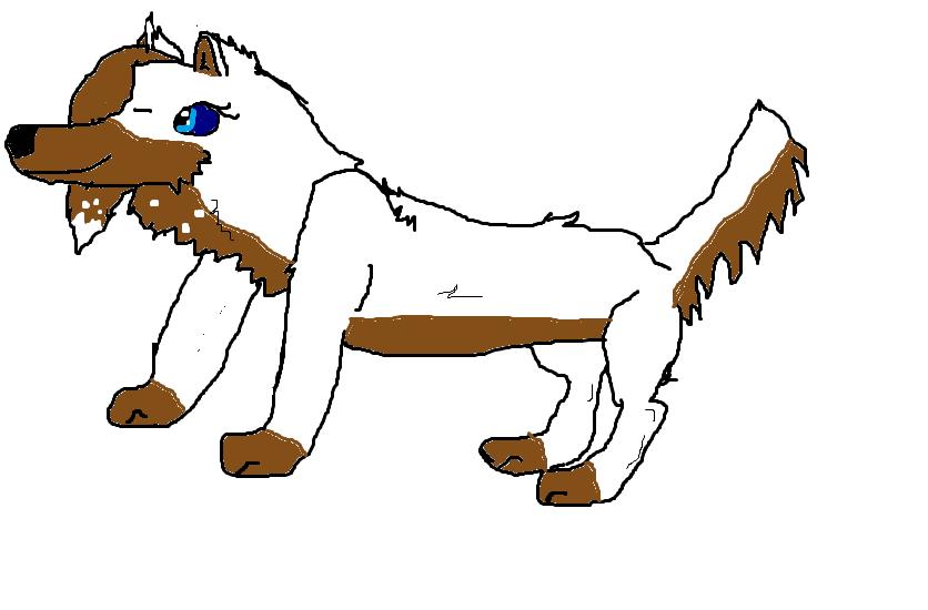 my 狼, オオカミ drawing