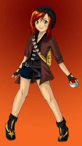 Jugar a ser Alguien Aleatório fondo de pantalla possibly containing a hip boot entitled pokemon trainer(female)