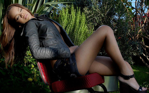 Rihanna wallpaper probably containing hosiery, bare legs, and a hip boot entitled rihanna giant mag