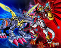 shinegrymon and metalgurugurumon - digimon photo