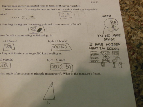 yes. i put these on my math test. X3 - random Photo