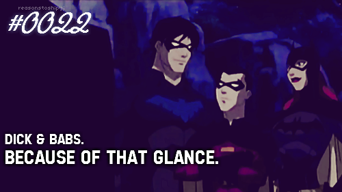 young justice - dick and babs