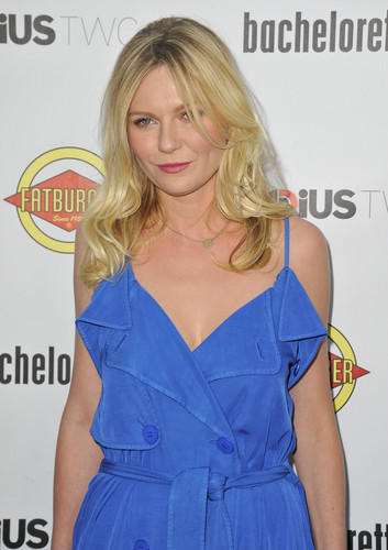 """Kirsten Dunst wallpaper probably containing a trench cappotto titled """"Bachelorette"""" Premiere in Hollywood - August 23, 2012"""