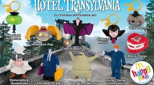 Hotel Transylvania Обои possibly with Аниме titled ☆ Hotel Transylvania McDonalds toys ★