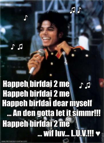 ♪ ♫  MICHAEL'S BIRTHDAY SONG  ♫ ♪