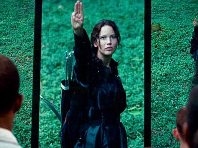 Katniss Everdeen fond d'écran entitled 3 Finger Salute