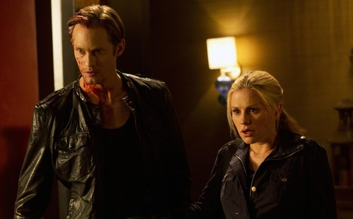 True Blood fond d'écran possibly with a well dressed person, an overgarment, and an outerwear called 5x12 Save Yourself - Promotional photo