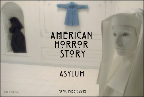 American Horror Story wolpeyper probably with a sign called AHS: Asylum