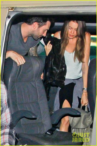 Adam and Behati arriving at their hotel in Rio de Janeiro