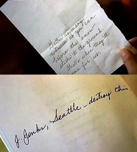 Alice's handwriting