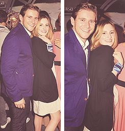 Allen Leech with Laura Carmichael