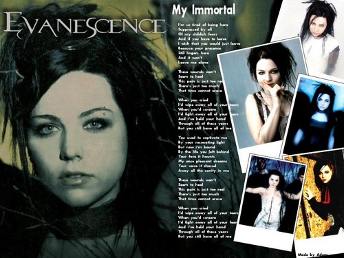 Amy Lee hình nền possibly containing a newspaper, anime, and a portrait entitled Amy <3