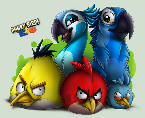 Angry Bird Wallpaper 3d