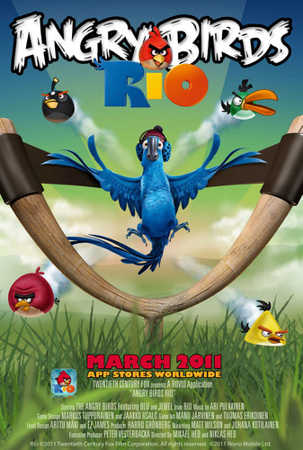 Angry Birds wallpaper with anime entitled Angry Birds Rio