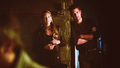 Anna Torv as Olivia Dunham and Joshua Jackson as Peter Bishop - Fringe 5x01