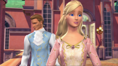 Barbie films achtergrond possibly with a portrait called Anneliese with Julian