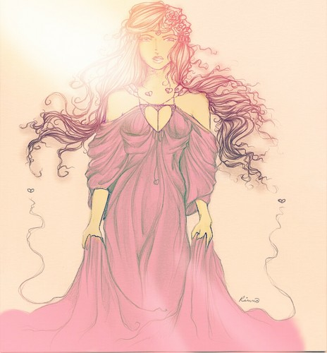 Aphrodite Sketch Coloured