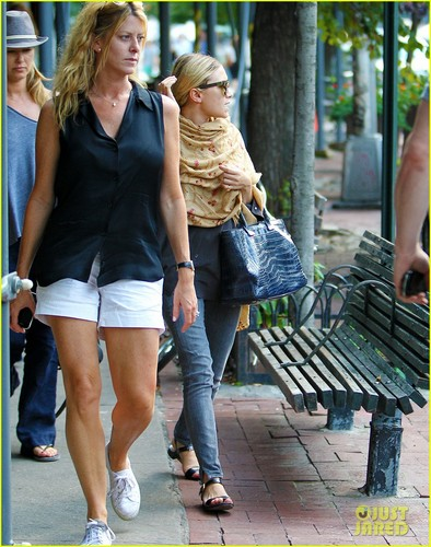 Ashley out and about on Monday (August 27) in New York City