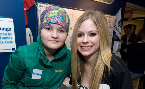 Avril visits the kids with the Avril Lavigne Foundation - 2012