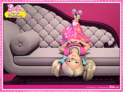 Barbie: Life in the Dreamhouse 바탕화면 probably with a living room entitled 바비 인형 Life In The Dream House