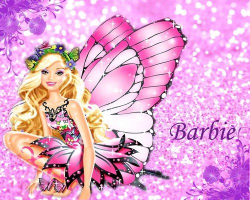 Barbie Movies wallpaper probably with a bouquet and a rose entitled Barbie Mariposa