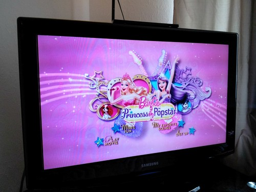芭比娃娃 Princess and popstar main MENU DVD