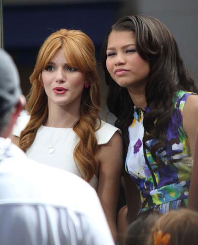 Bella Thorne and Zendaya in in Los Angeles, California 2012