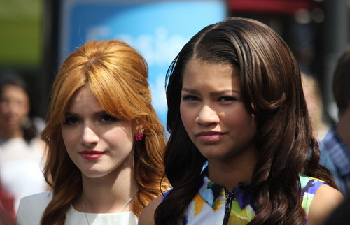 Bella Thorne and Zendaya in in Los Angeles, California, 2012