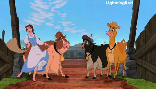 Belle Herds the Cows